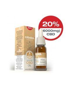CBD Hennepzaadolie 20% 6000mg 30ml Cibdol - overzicht