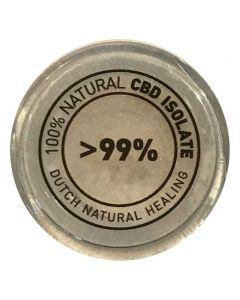 CBD isolaat kristallen 99,8% puur 3 gram van Dutch Natural Healing potje