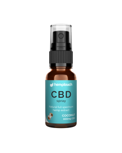 CBD Spray Kokosnoot 1,5% 300mg 20 ml. HempTouch - overzicht