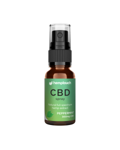 CBD Spray Pepermunt 1,5% 300mg 20 ml. HempTouch - overzicht