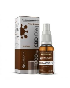 CBD spray met MCT olie 5% 1000mg 20ml van Synergetic - verpakking