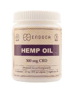 CBD Olie Capsules 3% - 30 stuks van 10mg Endoca - overzicht