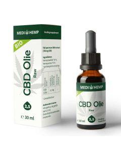 CBD Olie Raw 2,5% 30ml voorkant