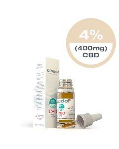 CBD Olie Normaal Olijfolie 4% 400mg 10ml Cibdol - overzicht