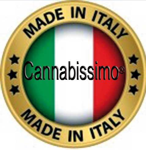 Cannabissimo wordt gefabriceerd in Italie